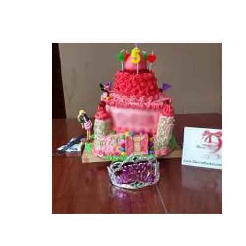 Eggless Princess Castle Theme Cake At Rs 4000 Kilogram Kendriya