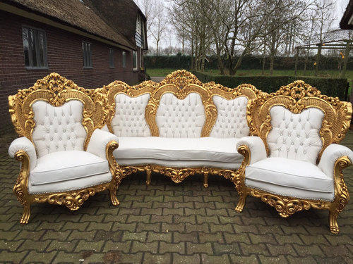 sofa art gallery high back two seater bed gold and white antique gurukrupa golden touch
