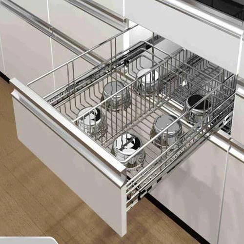 kitchen basket vinyl flooring ss modular for home rs 1200 square feet ornate