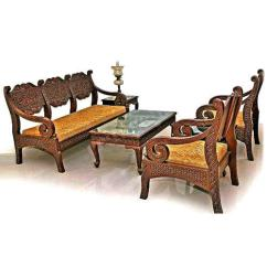 Wooden Sofa Sets Designs India Beach House Bed Wood 5 Seater Designer Set Rs 125000 Heritage Id