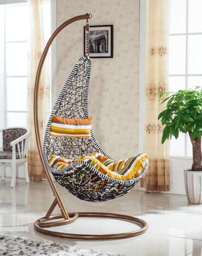 hanging chair qatar fabric for recovering dining chairs outdoor wicker swing manufacturer from hyderabad