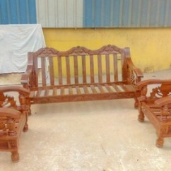 Living Room Wooden Sofa Furniture Ceiling Design India Diaamond Co Teak And Walnut Set World Cup Model Rs