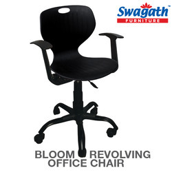 revolving chair for office vinyl straps patio chairs with armrest exporter from kolkata bloom arms