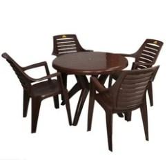 Table Chair Set Victoria Bentwood Rocking Brown Varmora Furniture Stylish Plastic Rs 1489 Id