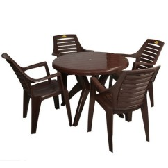 Set Of Chairs Wine Barrel For Sale Brown Varmora Furniture Stylish Plastic Chair Rs 1489 Id