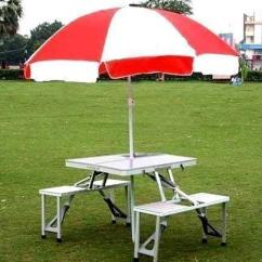 Folding Chair Picnic Table Vinyl Cleaner Aluminum Portable With Umbrella At Rs 5000