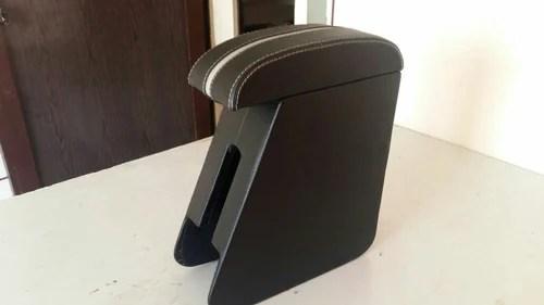 wooden armrest console