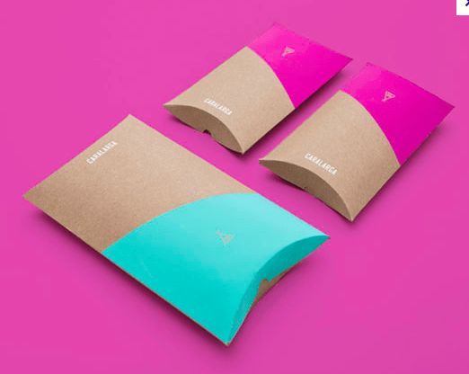 recycled kraft paper custom printed pillow boxes