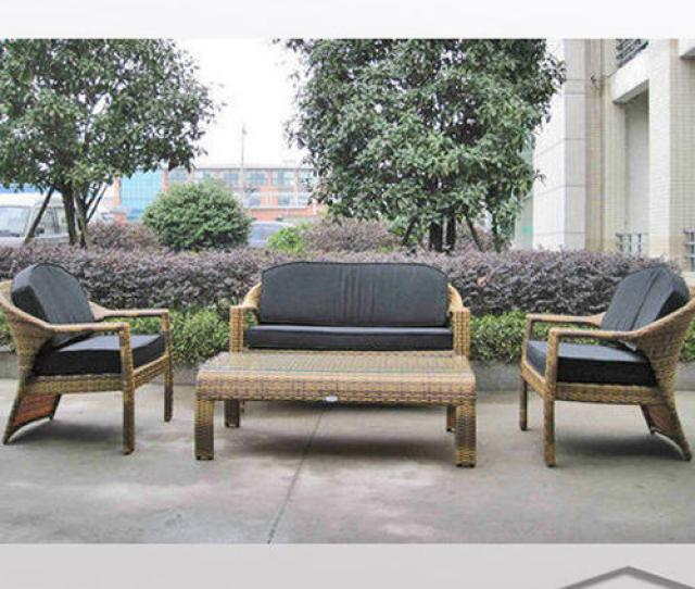 Outdoor Living Outdoor Furniture Wicker Sofa Manufacturer From New Delhi