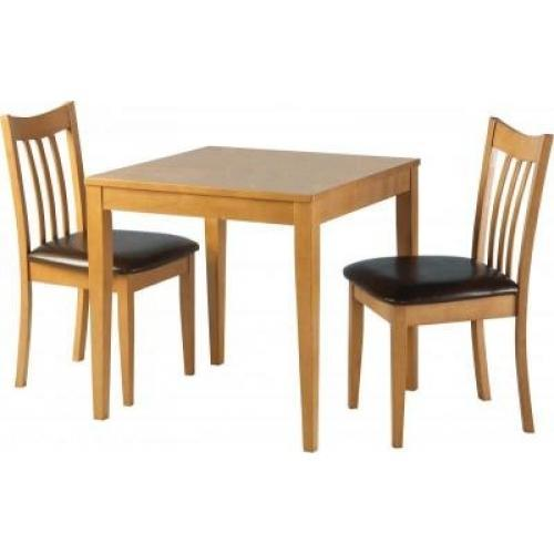 2 seater kitchen table set used cabinets ct brown wooden dining rs 8500 ms furniture