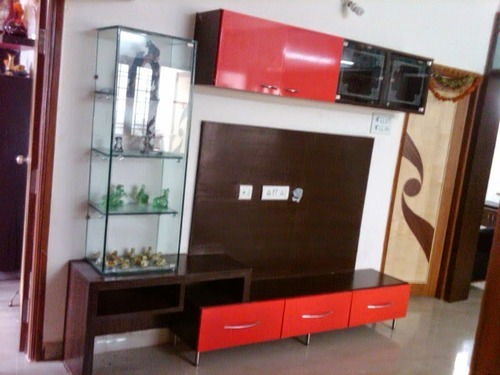simple tv panel design for living room beige turquoise unit veneer service provider from chennai