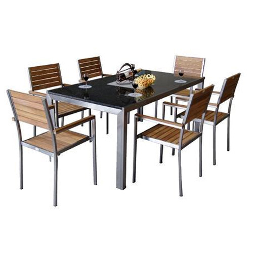 metal kitchen table sets hutch buffet dining set at rs 9000 id