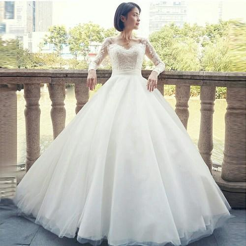 Wedding Gowns  White Wedding Ball Gown V Neck Manufacturer from Mumbai
