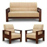 Teak Wood Sofa Set,   - Shri Shakumbhari Furniture ...