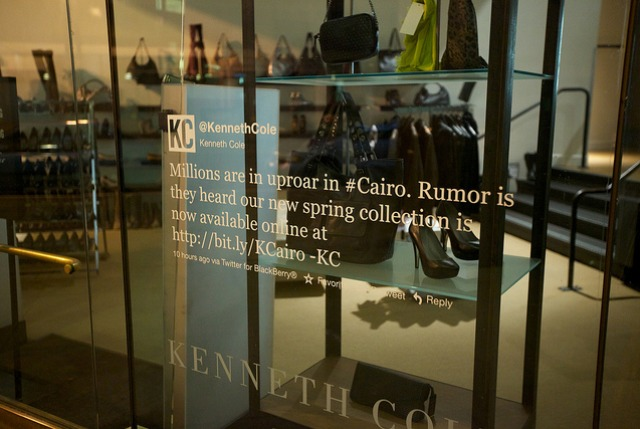 Kenneth Cole Tweet Window Image