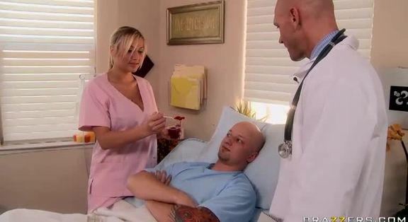 Amazing Platinum Nurse Alanah Rae Featuring Hot Medical Porn Video