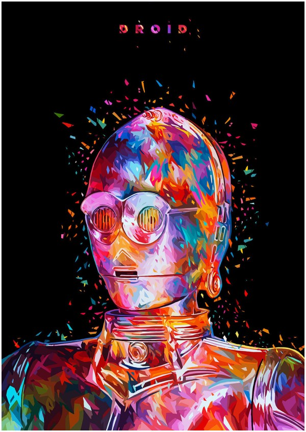 Geek Art Posters Abstract Color Star Wars