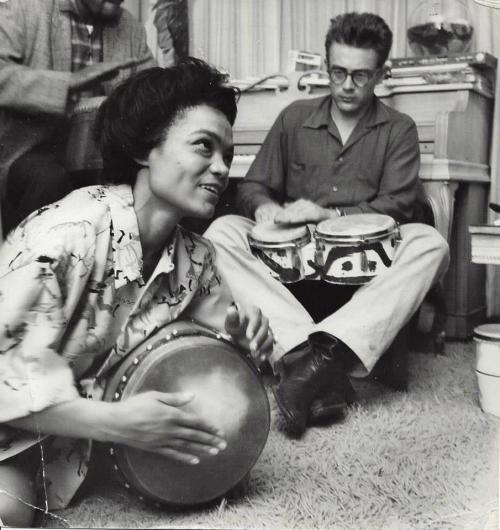 Eartha Kitt and James Dean, 1954
