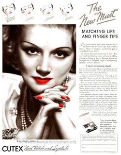 Nail Polish Ad, ca. 1935