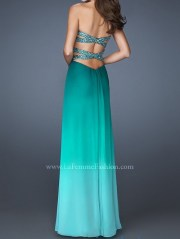 ombre prom dress
