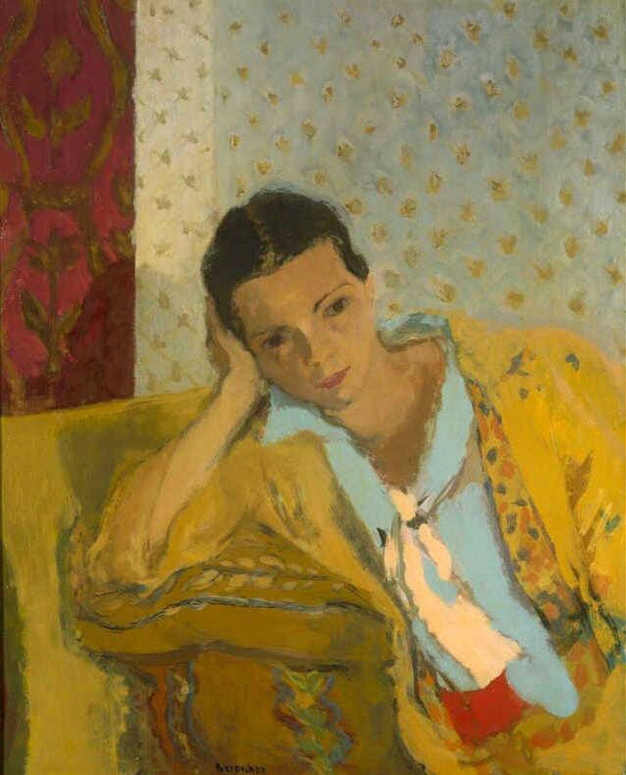 huariqueje:  Marguerite Louppe (Artist's Wife) -  Maurice Brianchon 1934 French 1899-1979 oil on canvas  Museum Boijmans van Beuningen, Rotterdam