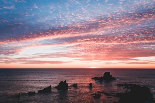 Landscape Ocean Sunset Oregon Artists Coast