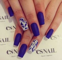 matte blue nails | Tumblr