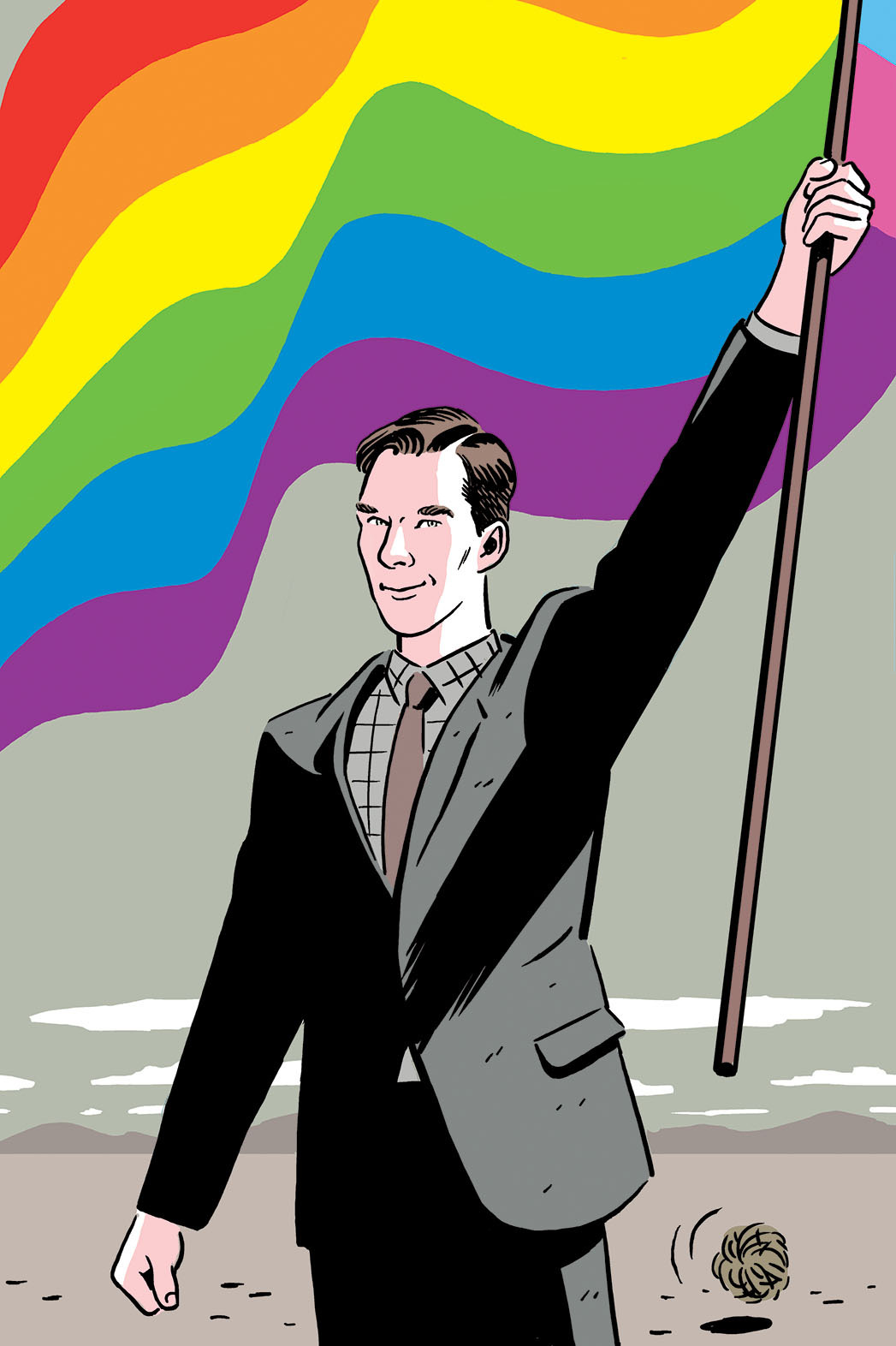 benedict-1976:karin-woywod:Oscars: 'The Imitation Game' Finally Plays the Gay Card2015 01 28 published - The Hollywood Reporter - Illustration by R Kikuo JohnsonOpen in new tab / window for              [1047 x 1572 pixels]              !Source  C'est original :)