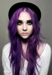 dark purple scene hair