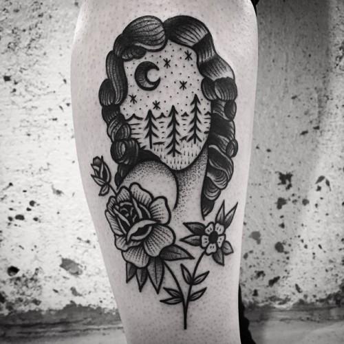 Black American Traditional Tattoo Flash