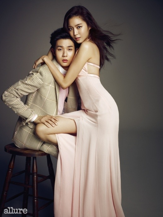 After School Uee and Choi Woo Sik - Allure Magazine March Issue '15