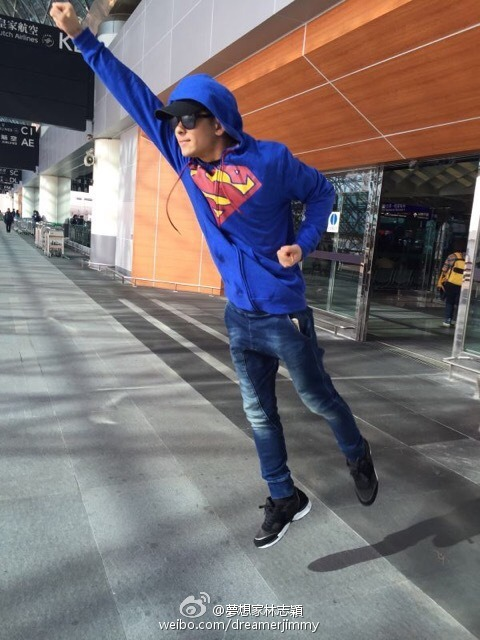 Jimmy Lin cosplaying as Superman