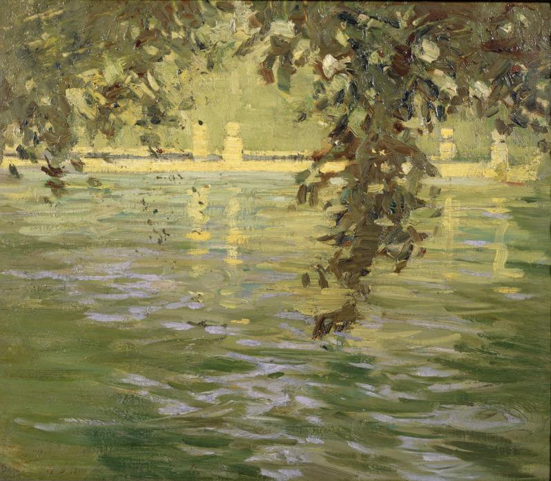 amare-habeo:Takeshi Fujishima (Japanese, 1867-1943)Pond of Villa d'Este, Tivoli, 1909Oil on canvas