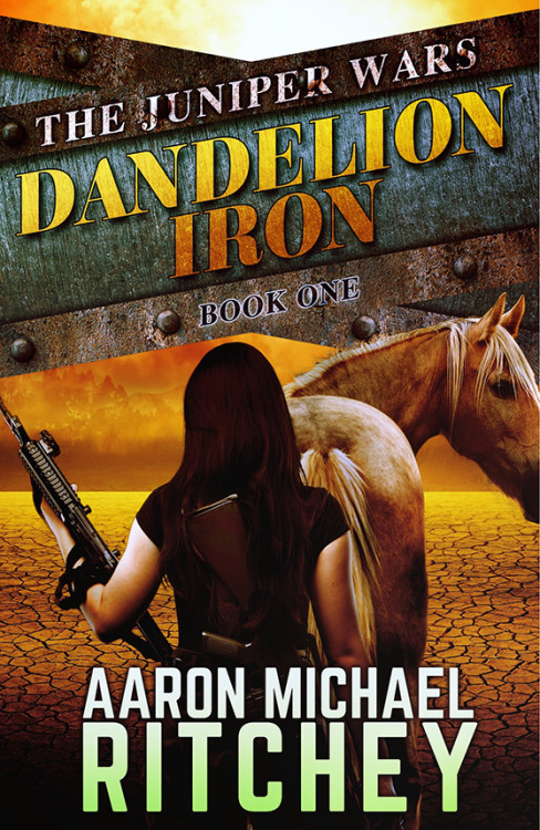 The Juniper Wars: Dandelion Iron By Aaron Michael RitcheyReviewed by Miranda BoyerI had to look up the the last Aaron Michael Ritchey book I had the privilege of reading; it was back in June of 2015. Nearly a year ago, I finished Long Live the Suicide King and I've been itching at that empty part of me waiting for the next piece of fiction from Ritchey so that I might get my fix. This time last year I met Ritchey and he told me about this wonderful new series he was writing. The way his face lit when describing a futuristic post-apocalyptic cattle drive was worth a thousand words. You can imagine my surprise and delight when I received an ARC of The Juniper Wars: Dandelion Iron. I breathed a little easier knowing that after many long months, the wait and come to an end. The year is 2058 and the Sino-American War caused many problems for the world. The first and arguably the biggest problem was the Sterility Epidemic, causing 9 out of 10 men to be sterile as well as 9 out of ten births to be female. The second largest problem was due to the Yellowstone Knockout. New Mexico, Colorado, Utah, Wyoming, and Montana, as well as the edges bleeding into bordering states have no electricity. This makes up what is known as The Juniper, the wildest most dangerous part of the world. While the rest of civilized society moves on and embraces technology, cures cancer, and are working hard to save the earth; those in the Juniper are left to function in the dark ages of what resembles the old west. In Dandelion Iron, book one of six in the Juniper Wars series, we meet Cavatica Weller. She has fully embraced civilized life and going to school in the city. She's even made peace with the fact that she'll probably never have a boy of her own. Until her gunslinging sister Wren shows up at her school forcing her to run for her life back to the Juniper. Her oldest sister Sharlotte is holding down the family ranch, with bad news to bare. In a last ditch effort to save the family ranch, Cavatica and her sisters will take on the most dangerous outlaws the Juniper has ever known. During this Firefly-esk book, a rare viable boy who falls from the sky. Literally. Only how much do the Weller sisters know about him? Wren wants to sell him for the millions he's worth while Cavatica has fallen head over heals in love and Sharlotte is caught in between. It's easy to forget how emotional teenagers are when you no longer suffer with the highs and lows of teenage hormones, when everything is life or death. In this case though, the world really is life and death and falling in love with a strange boy who fell from a zeppelin makes it just a bit harder. Or is easier? There is a strong dance in Dandelion Iron around what is right and what is wrong. The world starts a little black and white for Cavatica. She tends to see things strongly one way or the other, despite her own internal reservations. As the book progresses, we see her start to listen to the internal voice that tells her the world isn't so black and white as she once thought. I have little doubt that we won't see more of this as the series progresses. This book is about so much more than everything I've said before. It's also about family, three sisters who could not be more different if they tried. But whose love and commitment to one another keeps them together. Dandelion Iron is a coming of age story and while I don't know for sure, I would guess that it's the beginning of something much bigger to come.  Ritchey's writing never ceases to delight. His pros never fail to pull at the heart strings, and promote strong visuals. Ritchey's work is the perfect example of showing a reader the story with words and not telling them outright. Everything from the landscape to each character has been developed so completely that it is all as real in my mind as if I'd witnessed everything myself. English teachers everywhere will be proud.Now if you'll please excuse me for a couple of days, I have book two to melt into next and I'm dying to know what happens to the Weller sisters and their beefsteaks out in the Juniper. Juniper Wars: Dandelion Iron Release date: April 11, 2016Pre-order it today by clicking here!