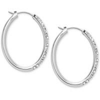 crystal hoop earrings | Tumblr