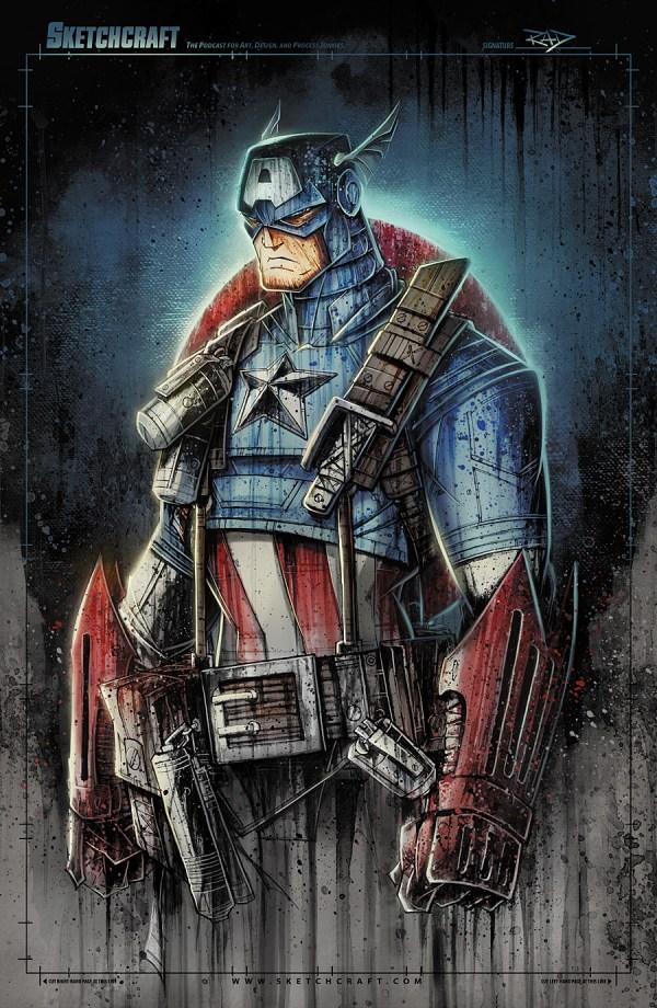Captain America Marvel Art