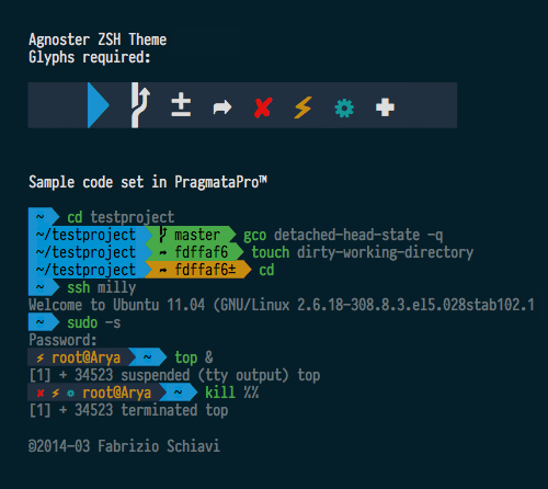 PragmataPro 0.817 will be Agnoster ready
