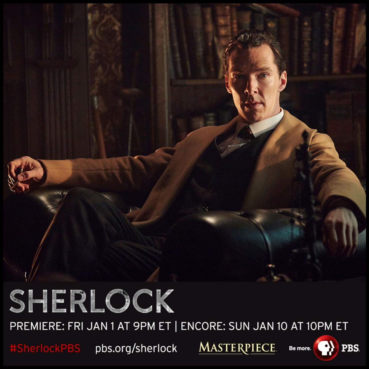 pbstv:  As Thanksgiving draws near we're thankful for these NEW Sherlock photos!   Get a closer look at the upcoming special – portraits, behind-the-scenes and more at PBS.org/Sherlock  xxhttp://www.denofgeek.com/tv/sherlock/37949/sherlock-benedict-cumberbatch-on-the-abominable-bride (full round table) Benedict Cumberbatch chats about taking his Sherlock Holmes back to the  Victorian era in the Sherlock Special, The Abominable Bride…Back in February of this year, details on the Sherlock  Christmas Special were thinner on the ground than incriminating  footprints after heavy rain. We had no title, trailer or synopsis for  the Victorian-set episode, just a single image of Benedict Cumberbatch  and Martin Freeman decked out in nineteenth-century clobber.Armed with only that, it was the task of a group of journalists  visiting the set to turn detective and find out what could be deduced  about the Special. Facing cast and creators well-used to the ducks and  dives of interviews able to reveal almost nothing, below are the results  of a rapid-fire interrogation of Benedict Cumberbatch…How did you respond when they said they wanted to do a Victorian Holmes?I was thrilled! I went, at last, I can have a fucking  haircut [laughter] I can slick it back and not have that ridiculous mop  of curls on my head. And then I went you're mad, what?The first pitch was quite light. It was at the end of the third  episode of the last season and I genuinely didn't understand how they  were going to get away with it. And then the more detailed pitch came  when they were talking about series four as well and I went, okay, this  is going to be great fun. And it really is.It's so nice to play him in his era. The things that are slightly  more heavy-lifting in the modern era in that there's a man clearly  slightly out of his time, it's put him back in the era that he's written  in originally, it's a joy. It feels easier to a degree. It's just  things that I tried to impose a little bit on our modern version, things  like physicality, stature, a lot of that's done by the body of the  clothing and collars and the deerstalker and cape, so that's an absolute  delight. Yet it doesn't feel like cliché because you're functioning in them  rather than quoting them. You're not just bringing them out, they were  functional in that era, they were de rigeur items of fashion which have  just become iconic for him, but also very useful.Has the change in period affected your performance?I'm sure it has.Sherlock is more at peace with his surroundings and environment?A little bit, a little bit. When he's in full Victorian swing, it's a really lovely feeling.Is he still rude?Yes, he is still rude because he cuts through mediocrity. He's a  meritician, it's a meritocracy, so it doesn't matter if you're Lord and  Lady such-what or if you're driving a hansom cab, or if you're one of  the Baker Street boys, it's just purely about what your worth is and  your qualities, it's not about social standing. So yeah, he is still  rude. He's rude to idiots or people who are pompous or sexist…he's quite  a crusader in that regard. That's always enjoyable to be.What's the relationship between him and Watson? Is Watson more in awe of Holmes?I think there's always a bit of respect rather than awe.Is there still the 'bromance'?You just really want to write the word 'bromance' [laughter]There can't be an article without it in there!There can. You can be the first! Strive for change in the press. [Laughter]It's definitely a companionship that's evolved in our version, so  we're not regressing it back to 'wow! Golly Holmes' or some kind of  Nigel Bruce-esque adoration, it's more complex than that. It is an  examination of what they were in the original stories but with our  flavour.We don't want to make it into a sketch, we don't want to make it into  something ridiculous or comic but at the same time, because we want to  be true to the original but at the same time we've got to be true to our  version of it. It's that very delicate balancing act.Is there an element of mischief in deciding to do this now?Not too much. No, not too much.Because it's confounding what fans are going to expect following a cliff-hanger?Possibly.But there's some fun in that?Yeah. I suppose there's some sort of gleeful hand-rubbing, if it's  needed, from Mark and Steven, but when you're playing it, you just get  on and do the thing. You're committed to what you're playing.Because of the traditional setting, do you feel the weight of other portraits of Holmes?Not really, no. We've established ours and so have others. We're  still very different from the Guy Ritchie version. This isn't steam-punk  action drama, it's still our version. It still has the nuances of the  original book with our twists. So, no. There will always be comparisons,  always, you can't help that.As I keep guessing, I think I'm the seventy-sixth and Robert  Downey-Jr is the seventy-fifth. When you're one of that many, and some  truly immeasurably iconic previous versions in the original era, it's  not healthy to compare.The other gorgeous thing about going back in time to this is that you  can actually look to the books as your source material, which is what I  always do for our version anyway but it's even more qualifiable to lean  on them for some inspiration, insight and characterisation, so that's  been good, more than going back to other versions, is just going back to  the source material.Do you think you would have wanted to do period Holmes if that was the series?Yeah! Very much, very much. I've really, really loved it. I said to  Sue this morning, 'it's going to be hard to…', you know, talking about  maybe doing it again. It's really enjoyable.Do you almost prefer it?I don't know. They're too different to compare in some ways. Yeah,  I'm really crap at answering 'favourite' questions [laughter].There must be something satisfying for you about having slicked-back hair and…Because that's the more familiar. Like I say at the beginning, you  feel like some of the weight is taken off you, you're not trying to  establish this man in the 21st century.I don't know any other actor that's been that spoiled with this role.  Well, Rathbone leaped forward to the forties and fought Nazis, so that  was their version of it. There's quite a lot of modern clobber.  I think I'm pretty much the only one that's done that quite so severely  as we have.The original Holmes was a champion boxer. Are we going to be seeing you fighting?Yeah, I'm always up for more fights. I keep saying that to them. I do like throwing myself around a set.Is your Victorian Holmes quite progressive? You said earlier that he's calling people out for being sexist and so on?I think he always was, he was very charming with women. He gave a lot  of people respect that otherwise you wouldn't necessarily have thought  in that era he would. He's a man who goes for quality rather than the  social hierarchy, but I don't think he's any more that than he is in the books is what I was trying to say.There's no danger that modern fans might be alienated by a Victorian Holmes?I don't know. I don't think so though, he's got a lot of fight in  him, he hasn't become patronisingly nice and charming. He defines things  as they are, he's very straight with people.And you're smoking a pipe this time?It's a pyrotechnic pipe. I'm not smoking it, it's an effect. Even  that is fun, just to have that as another part of him. There might be a  magnifying glass that might be slightly bigger than the one I usually  use, it might be slightly more familiar…Any syringes full of cocaine?Again, the props department are having a fantastic time on this job. All sorts of things are being brought into play.Read more:  Steven Moffat once said that you have to wear the Belstaff coat in every Sherlock. But you don't in this?It's not contractual [laughter]. It's getting a bit tatty now. Mark  gave me one at the end of the first series, I was like 'what are you  doing?' he said 'you should enjoy this, just enjoy it, because you're  only going to have two months of wearing it, you look great in it' and I  was like 'oh great' so I did for a little bit, but even then I started  to think 'well, it's not like somebody's going to take a photograph of  me now, but what if somebody accidentally did and it then says  'Wandering around Hampstead Heath in his fucking coat!' [laughter] to  seal my reputation as being a dick. So I felt self-conscious about it.But also, I had to give it back because we've run out of them.  Belstaff doesn't make them anymore and the replicas don't cut it so it's  back in the cycle of the ones we've got. I'm sure he'll wear his coat  again. It's like the hair, the coat, the key ingredients… but what  really brings me back for more cross-generationally is just the  evolution of him and the characters within the stories that you know and  the stories that we create out of the stories you know. That's the real  level of engagement with him I enjoy, the stuck-on bits of the doll  will hopefully change at some point because what goes on underneath has  to change a lot as well. As an actor, that's what intrigues us all to  come back and play these characters is that there is scope for them to  expand and change and evolve.Do you think doing a Christmas Victorian episode could become a bit of a tradition?Keep coming back for more? Maybe, maybe. I don't know. We'll see how  this one goes. I think if it becomes impossible to schedule a season  every year, year and a half then yeah, absolutely, why not.It's a great deal of fun, this, but it does advance things, it's not just on its own.How determined are you to keep making time for Sherlock?Pretty determined. I'm still enjoying it. We'll see how the next  series goes, but as it is in this room, as I've said many times before,  I'd love to keep ageing with him. Martin and I started this relatively  young compared to a lot of Holmes and Watsons, so why not?http://www.telegraph.co.uk/news/bbc/12012813/Sherlock-Christmas-special-to-include-secret-message-for-Chinese-fans.htmlx