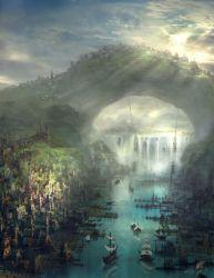 Illustration art fantasy concept art digital art fantasy art fantasy landscapes fantasy cities fantasy art engine •