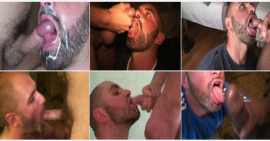 bebendo esperma gay