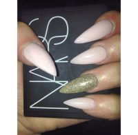 pink acrylic nails   Tumblr