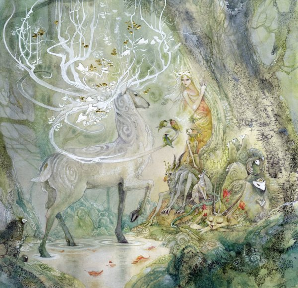 Fantasy Deer Amazing Art Mythical Faerie Stag Celtic