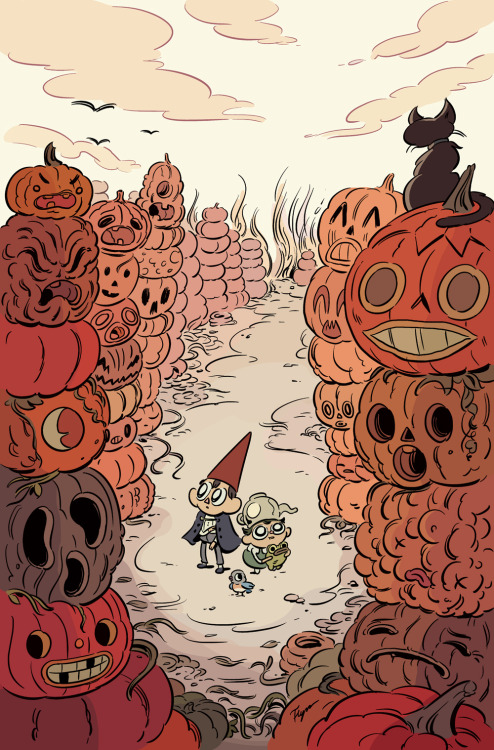 illustration halloween comics pumpkins