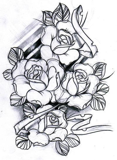 Rose Tattoo Sketch Tumblr
