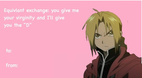 12 Hilarious Anime Valentine Day Card For Your Crush