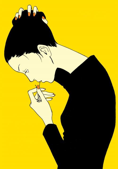 blackcoffeecinnamon:  Nananan Kiriko,Painful Love,1995 (edit) 魚喃キリコ、 痛々しいラヴ (Itaitashii Love)