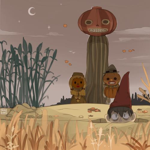 pumpkin over the garden