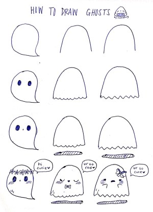 drawings simple draw halloween easy wallpapers drawing doodle ghosts google amazing tumbler
