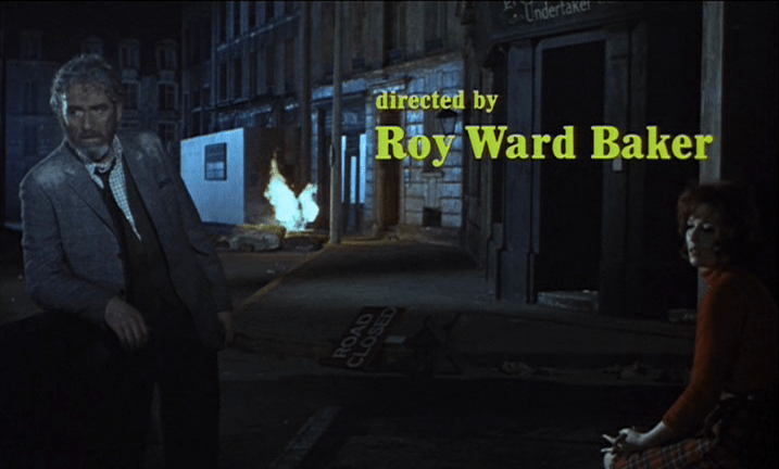 Roy Ward Baker&rsquo;s QUATERMASS AND THE PIT (1967), aka FIVE MILLION YEARS TO EARTH.<br /> Excluding shots of some of the best parts, because the film is a treat to discover.  Equal parts science fiction and horror, it tells the story of an archaeologist and a gruff scientist who must piece together a bizarre discovery in an excavated transit station named Hobbs End.  The military is brought in, and soon things escalate to potentially apocalyptic proportions. And as you can see, by the end, everyone is just exhausted.</p> <p>I especially like the posters at top; both are misleading by degrees, but both are also beautiful pieces of art, with vivid details and color.<br /> One of my favorites, and hard to find.  I highly recommend the recent UK Blu-ray release, if you have an all-region player.  Or maybe try one of the older Hammer DVD box-sets.