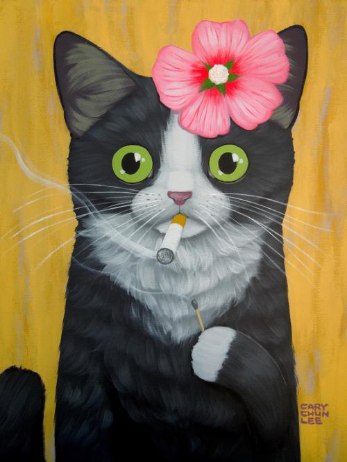 Black Cat Fall Wallpaper Cat Illustration Art Cute Painting Design Coffee Kitten